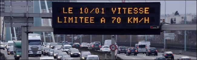 Vitesse réduite à 70km /h sur le périphérique parisien