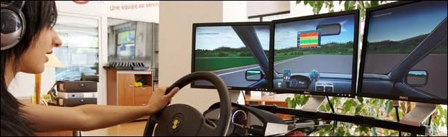 le simulateur de conduite l 39 essai. Black Bedroom Furniture Sets. Home Design Ideas