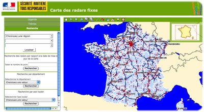 carte radars fixes 2012