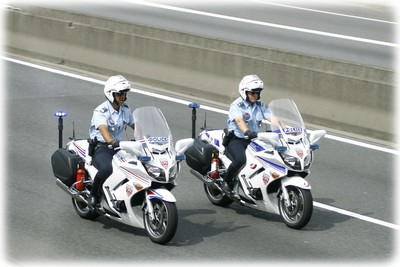 Motocyclettes Police Nationale